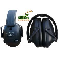 GDK Black shooting electronic ear defenders, ear muffs
