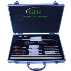 Universal gun cleaning kit, aluminium case