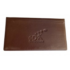 GDK Leather gun license shooting wallet,gun certificate dark brown wallet,holder