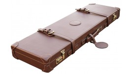 Leather shotgun case