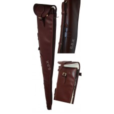 "Guardian leather shotgun slip, dark brown 28-32"" barrels"