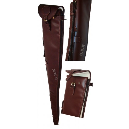 "Guardian leather shotgun slip, dark brown 28-32"" barrels"