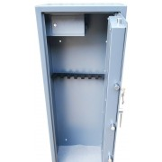 Vault locking 8 gun cabinet with side ammo safe,