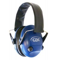 GDK Blue shooting electronic ear defenders, ear muffs