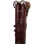 Dark brown double leather shotgun slip, detachable