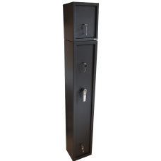 Deluxe 3 gun cabinet with external ammo safe combo