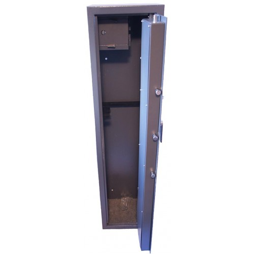 Vault Locking 6 gun cabinet with side ammo safe, 3 x extra long guns