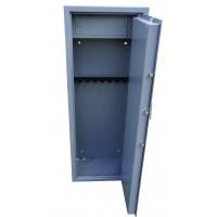 Vault locking 8 gun cabinet with inner ammo safe