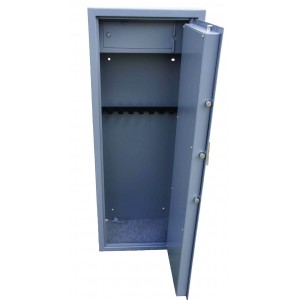 Vault locking 8 gun cabinet with inner ammo safe