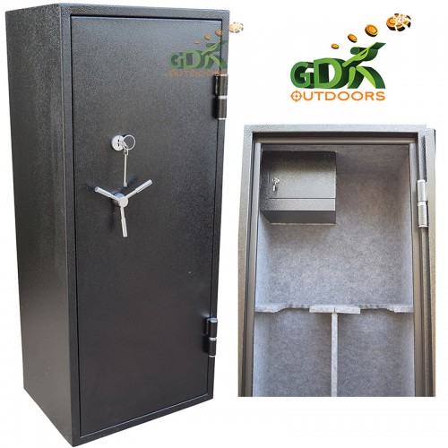 26 Gun cabinet, fireproof, inner side ammo safe Key / Digital