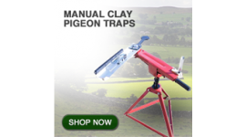 Manual clay pigeon traps