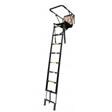 2.5m telescopic high seat, tree ladder, stalking, back pack design