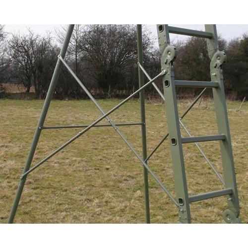Universal high seat stand / folding tree ladder