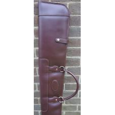 "Guardian leather shotgun slip Dark brown, zip & popper, 28-30"" barrel 268SL"
