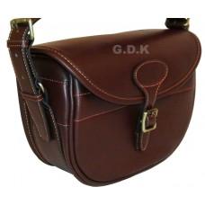 Guardian leather cartridge bag, dark brown