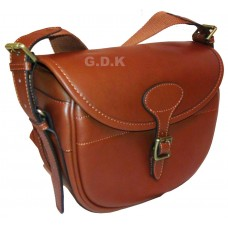 Tanned leather cartridge bag