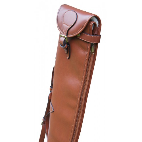 "Guardian leather shotgun slip, Tanned 32-34"" barrels"
