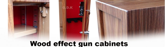 wood effect gun cabinet
